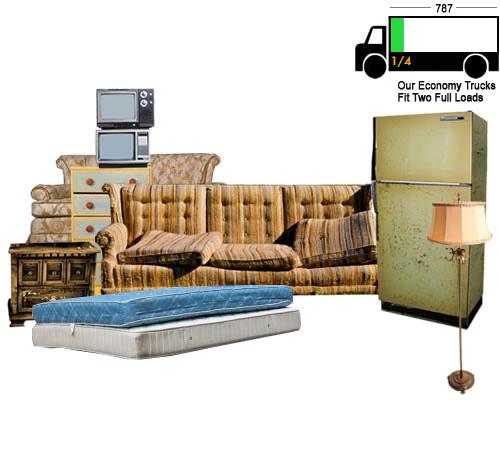 Asheville Junk Hauling 1/4 Truck Load