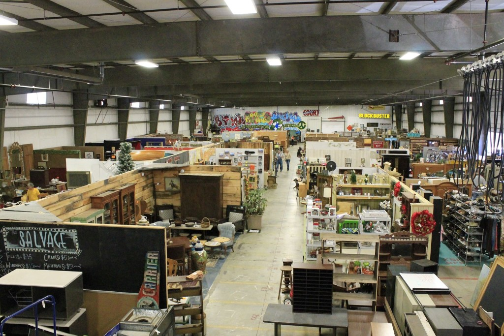 The Regeneration Station is a mega thrift store that offers a wide variety of used furniture.